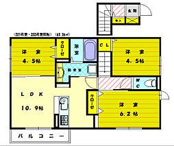 D-room南[2階]の間取り