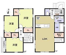 東京都北区志茂2丁目の賃貸アパートの間取り