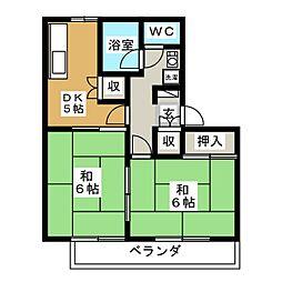 NEW駒形ハイツA[2階]の間取り
