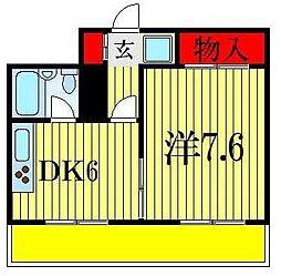 グリーン早稲田[8階]の間取り