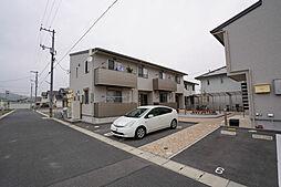 岡山県岡山市中区高島新屋敷の賃貸アパートの外観