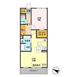 (仮)D-room飯山満町 A[103号室]の間取り