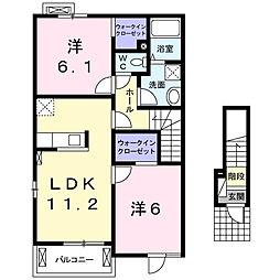 京(キョウ)[2階]の間取り