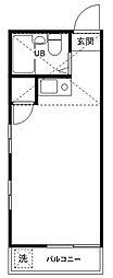 コーポマリーナ成城[201号室]の間取り