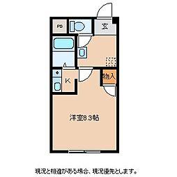 コーポ松木[1階]の間取り