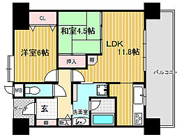 フェニックス堺東[4階]の間取り