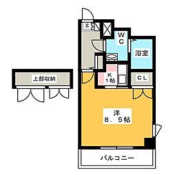 プリメール箱崎II[3階]の間取り