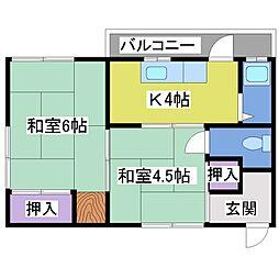 サイカイ荘[2階]の間取り