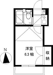 グリーンコート湘南II[203号室]の間取り