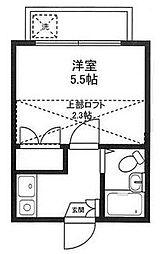 神奈川県相模原市南区相模台1丁目の賃貸アパートの間取り