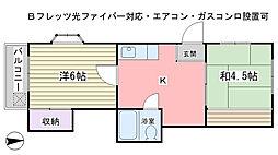 津田沼ハウス[211号室]の間取り
