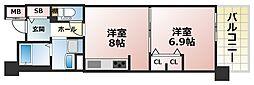 フレール六甲桜ヶ丘[4階]の間取り