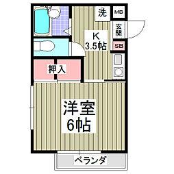 コーポ東日本I[105号室]の間取り