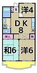 西新井サニーコーポ[403号室]の間取り