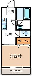 埼玉県加須市花崎2丁目の賃貸アパートの間取り