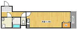 ルアン清水丘[103号室]の間取り