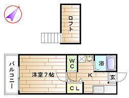ガーデン恵比須C[2階]の間取り