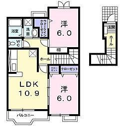 ラ・コリーナA[2階]の間取り