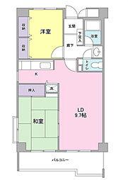 神奈川県横浜市都筑区中川1丁目の賃貸マンションの間取り