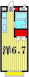 埼玉県越谷市蒲生西町1丁目の賃貸アパートの間取り