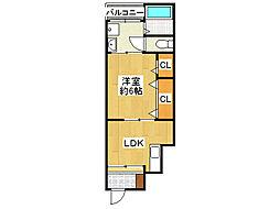 大阪府大阪市生野区新今里3丁目の賃貸アパートの間取り