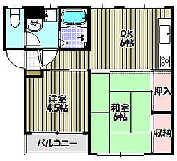 寿マンション[2階]の間取り