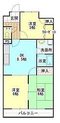 アーバンハイツ円山[203号室]の間取り