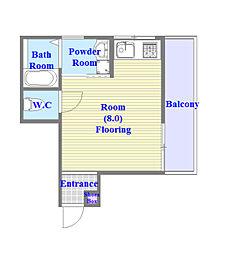 垂水陸ビル[3B-3号室]の間取り