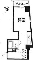 スカイコート中目黒[4階]の間取り