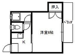 佐藤アパート[202号室]の間取り