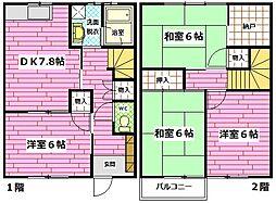 [テラスハウス] 広島県安芸郡府中町宮の町2丁目 の賃貸【/】の間取り