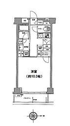 クリオ蒲田II[1階]の間取り
