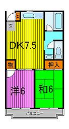 クレセントトオヤマ[5階]の間取り