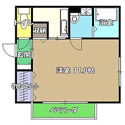 高知県高知市南金田の賃貸アパートの間取り