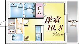 パレス東洋神戸6号館[4階]の間取り