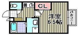 セジュールZENZO A棟[2階]の間取り