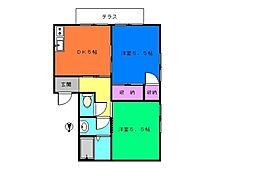 マナーハウス[101号室]の間取り