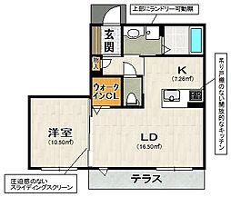 兵庫県宝塚市川面2丁目の賃貸アパートの間取り