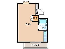 マンションミカド[2階]の間取り