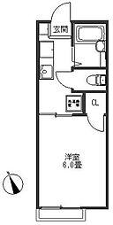 神奈川県横浜市南区別所2丁目の賃貸アパートの間取り