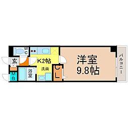愛知県名古屋市中村区那古野1の賃貸マンションの間取り