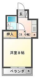 サニーハイツ津田沼[2階]の間取り