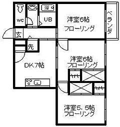 セントアミュー[2階]の間取り
