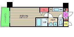 アドバンス西梅田[10階]の間取り