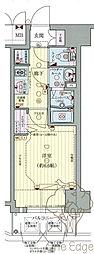 プレサンス梅田II 9階1Kの間取り