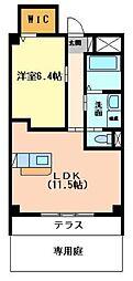 ジャルダン ドゥテ[1階]の間取り