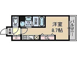 フェリーズ茨木[7階]の間取り