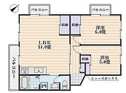 サンルビーササキI[3階]の間取り