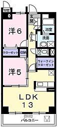 リシアンサスポピー[3階]の間取り