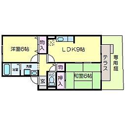 サニーコートA棟[1階]の間取り